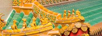 """Architectural detail of the roof of a temple, Kwan Im Thong Hood Cho Temple, Singapore by Panoramic Images - 34"""" x 12"""""""