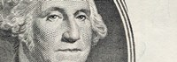 Details of George Washington's image on the US dollar bill Fine Art Print