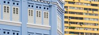 """Close-Up of Restored Building in Chinatown, Singapore by Panoramic Images - 34"""" x 12"""""""