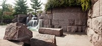 """Engraved memorial wall, Franklin Delano Roosevelt Memorial, Washington DC, USA by Panoramic Images - 27"""" x 12"""""""