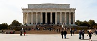 People at Lincoln Memorial, The Mall, Washington DC, USA Fine Art Print