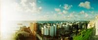 "Buildings on the coast, Pelourinho, Salvador, Bahia, Brazil by Panoramic Images - 29"" x 12"""