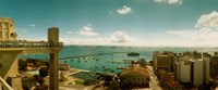 "Buildings on the coast, Lacerda Elevator, Pelourinho, Salvador, Bahia, Brazil by Panoramic Images - 29"" x 12"""
