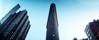 """Low angle view of the skyscrapers, Flatiron Building, 23rd Street, Manhattan, New York City, New York State, USA by Panoramic Images - 30"""" x 12"""""""