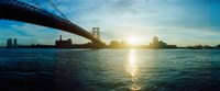"Suspension bridge over a river, Williamsburg Bridge, East River, Lower East Side, Manhattan, New York City, New York State by Panoramic Images - 29"" x 12"""