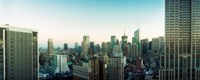 """Skyscrapers in a city, Midtown Manhattan, 34th Street, Manhattan, New York City, New York State by Panoramic Images - 30"""" x 12"""""""