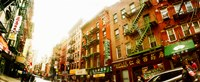 """Buildings along the street, Chinatown, Manhattan, New York City, New York State, USA by Panoramic Images - 29"""" x 12"""""""