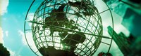 """Steel globe at the Trump International Hotel And Tower, Columbus Circle, Manhattan, New York City, New York State, USA by Panoramic Images - 30"""" x 12"""""""