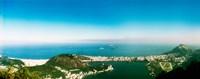 Aerial view of a coast, Corcovado, Rio de Janeiro, Brazil Fine Art Print