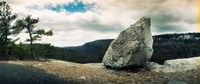 """Boulder along the Gertrude's Nose, Minnewaska State Park, Catskill Mountains, New York State, USA by Panoramic Images - 29"""" x 12"""""""