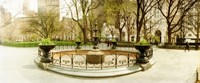 """Fountain in Madison Square Park in the spring, Manhattan, New York City, New York State, USA by Panoramic Images - 29"""" x 12"""""""