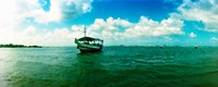 """Wooden boat in the ocean, Morro De Sao Paulo, Tinhare, Cairu, Bahia, Brazil by Panoramic Images - 30"""" x 12"""""""