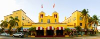 Facade of a hotel, Colony Hotel, Delray Beach, Palm Beach County, Florida, USA Fine Art Print