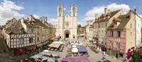 """Saint-Vincent De Chalon-Sur-Saone cathedral, Chalon-Sur-Saone, Burgundy, France by Panoramic Images - 28"""" x 12"""" - $34.99"""