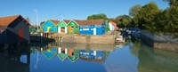 """Old Oyster farmers shacks, Le Chateau, Oleron, Charente-Maritime, Poitou-Charentes, France by Panoramic Images - 30"""" x 12"""""""