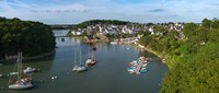 "Boats in the sea, Le Bono, Gulf Of Morbihan, Morbihan, Brittany, France by Panoramic Images - 28"" x 12"""