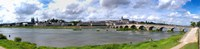 """Jacques Gabriel Bridge over the Loire River, Blois, Gulf Of Morbihan, Morbihan, Brittany, France by Panoramic Images - 48"""" x 12"""""""