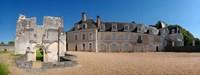"""Facade of an abbey, La Chartreuse Du Liget, Loire-et-Cher, Loire, Touraine, France by Panoramic Images - 32"""" x 12"""""""
