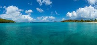 """Island in the sea, Caneel Bay, St. John, US Virgin Islands by Panoramic Images - 26"""" x 12"""", FulcrumGallery.com brand"""