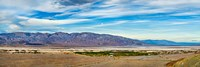 Landscape with mountain range in the background, Furnace Creek Ranch, Death Valley, Death Valley National Park, California, USA Fine Art Print