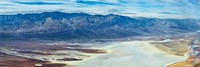 Salt flats viewed from Dantes View, Death Valley, Death Valley National Park, California Fine Art Print