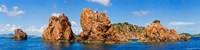 """Rock formations in the sea, The Indians, Norman Island, British Virgin Islands by Panoramic Images - 48"""" x 12"""" - $34.99"""
