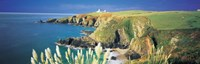 """High angle view of a coast, Housel Bay, Lizard Lighthouse, Lizard Point, Cornwall, England by Panoramic Images - 37"""" x 12"""", FulcrumGallery.com brand"""