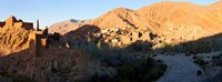 """Village in the Dades Valley, Dades Gorges, Ouarzazate, Morocco by Panoramic Images - 32"""" x 12"""""""