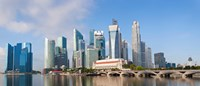 "Buildings at the waterfront, Singapore City, Singapore by Panoramic Images - 28"" x 12"""