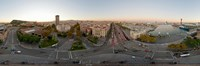 "Street Scene in Barcelona, Spain by Panoramic Images - 36"" x 12"""