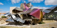"""Sculptured Roof of the Hotel Marques de Riscal, Elciego, La Rioja, Spain by Panoramic Images - 24"""" x 12"""""""