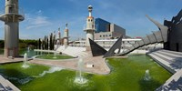 """Fountains in Spain Industrial Park, Barcelona, Catalonia, Spain by Panoramic Images - 24"""" x 12"""""""