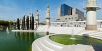 """Spain Industrial Park, Barcelona, Catalonia, Spain by Panoramic Images - 24"""" x 12"""""""