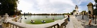 """Boats in a lake, Buen Retiro Park, Madrid, Spain by Panoramic Images - 41"""" x 12"""""""