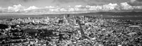 """San Francisco as Viewed from Twin Peaks (black & white) by Panoramic Images - 37"""" x 12"""""""