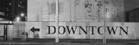 Downtown Sign in black and whitel, San Francisco, California by Panoramic Images - various sizes