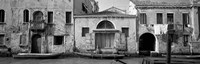 Boats in a canal, Grand Canal, Rio Della Pieta, Venice, Italy (black and white) by Panoramic Images - various sizes