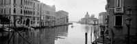 Buildings along a canal, view from Ponte dell'Accademia, Grand Canal, Venice, Italy (black and white) by Panoramic Images - various sizes