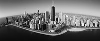 Aerial view of buildings in a city, Lake Michigan, Lake Shore Drive, Chicago, Illinois, USA Fine Art Print