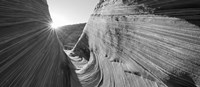 Sandstone rock formations in black and white, The Wave, Coyote Buttes, Utah, USA by Panoramic Images - various sizes, FulcrumGallery.com brand