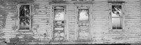 Facade of a Farmhouse, Livingston County, Illinois (black & white) by Panoramic Images - various sizes