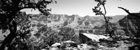 Mather Point in black and white, South Rim, Grand Canyon National Park, Arizona Fine Art Print