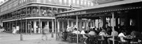 Black and white view of Cafe du Monde French Quarter New Orleans LA Framed Print