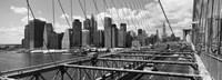 Traffic on Brooklyn Bridge, Manhattan Fine Art Print