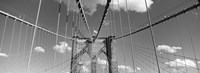 Brooklyn Bridge in Black and White by Panoramic Images - various sizes