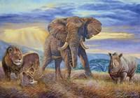 African Savannah Fine Art Print