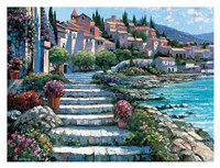 Steps of St. Tropez Framed Print