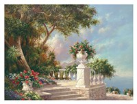 Balcony at Lake Como Fine Art Print