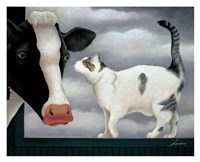 Cow and Cat Fine Art Print