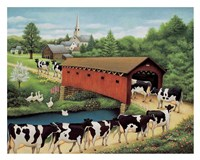 Cows in West Arlington Fine Art Print